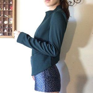 ASOS Jackets & Coats - ASOS Deep Forrest Green Tiered Edge Blazer